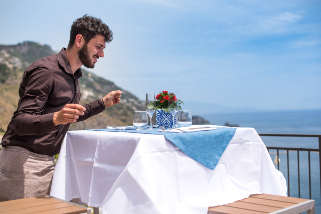 Ristorante M'ama! terrace Praiano Amalfi Coast