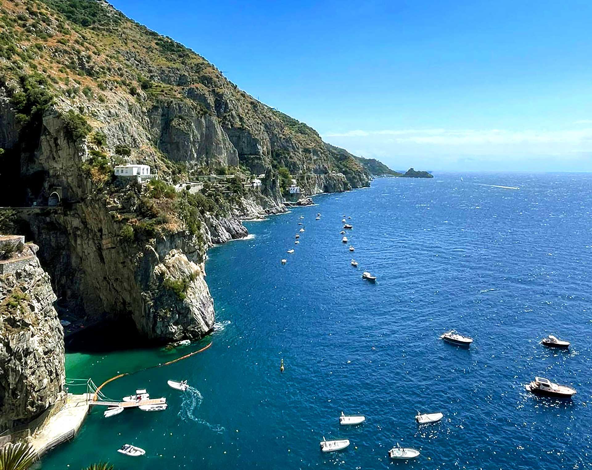 Sea and beaches on Amalfi Coast